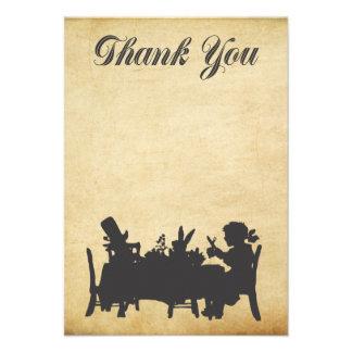 Alice dans le carte de remerciements de thé du pay invitations personnalisées