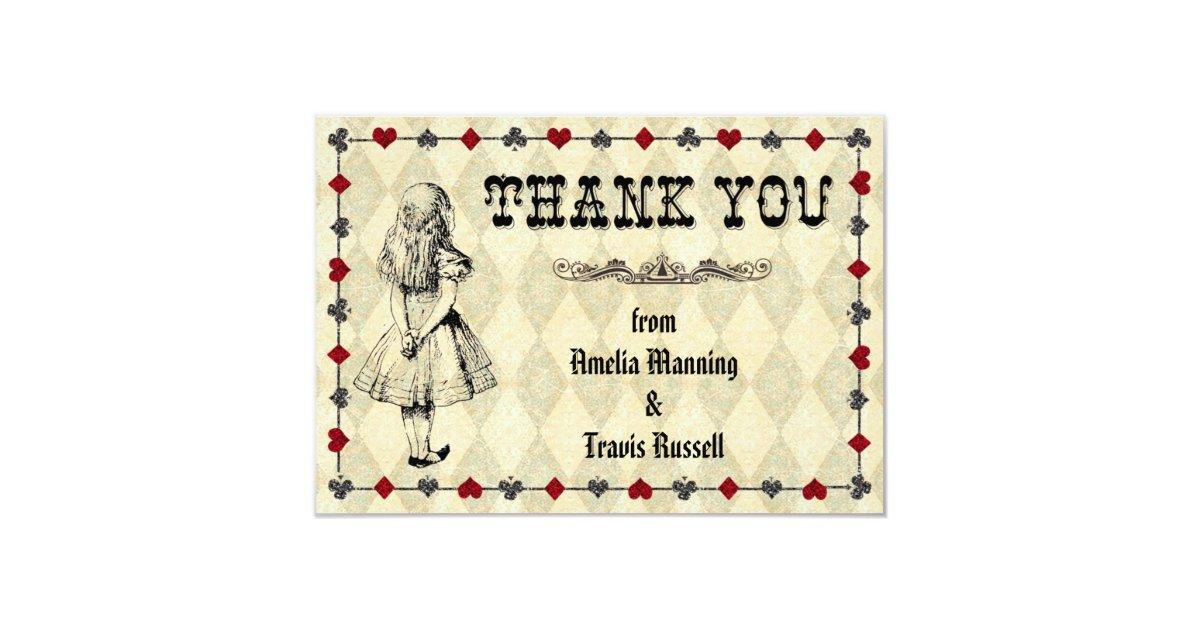 Alice dans le carte de remerciements du pays des carton d for Alice dans le miroir balthus