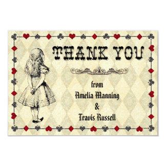 Alice dans le carte de remerciements du pays des carton d'invitation 8,89 cm x 12,70 cm