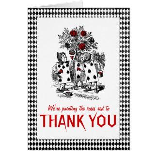 Alice dans le carte de remerciements orienté du