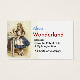Cartes de visite alice au pays des merveilles for Alice dans le miroir balthus