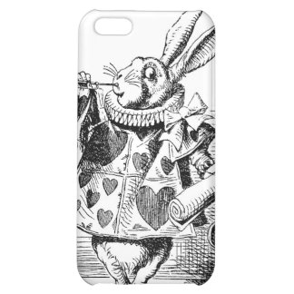 Alice dans le coque iphone blanc de lapin du pays  coque pour iPhone 5C