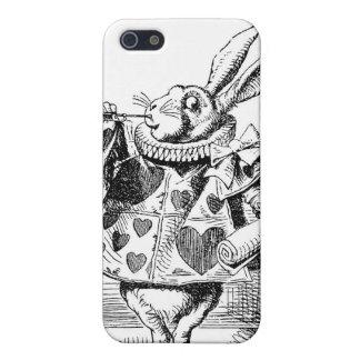 Alice dans le coque iphone blanc de lapin du pays coque iPhone 5
