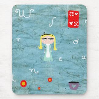 Alice dans le mousepad affligé par pays des mervei tapis de souris