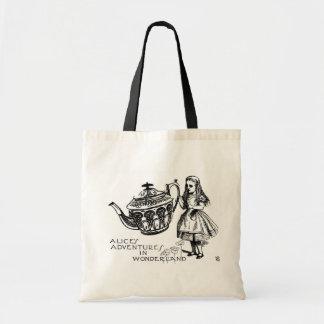 Alice dans le sac fourre-tout à budget du pays des