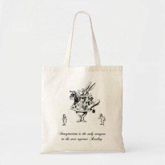 Alice dans le sac fourre-tout à toile de lapin du