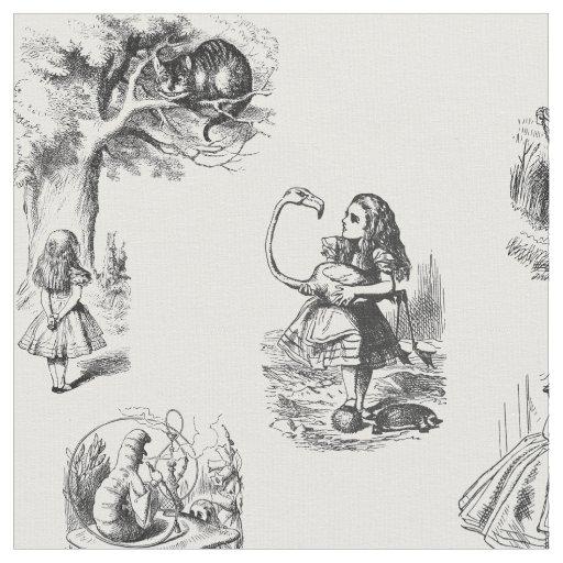 Alice dans le tissu noir et blanc du pays des for Alice dans le miroir balthus