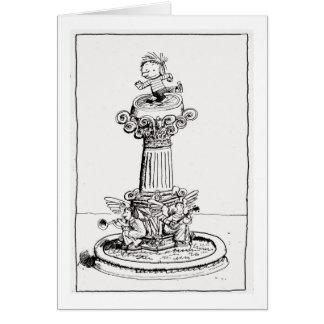 Alice dans une carte de piédestal