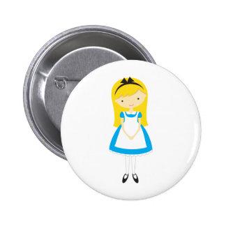 Alice debout au pays des merveilles badge