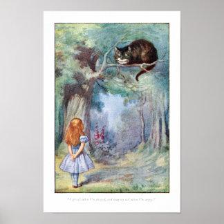 Alice en affiche d'impression de chat de Cheshire Posters