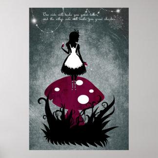 Alice en affiche du pays des merveilles posters