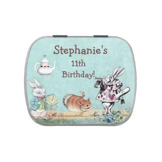 Alice en cadeau d'anniversaire du pays des boites de bonbons jelly belly