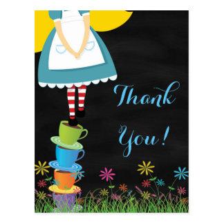 Alice en cartes postales de Merci du pays des