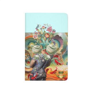 Alice en collage du pays des merveilles carnet de poche
