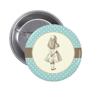 Alice en pois du pays des merveilles badge