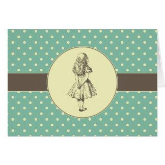 Alice en pois du pays des merveilles carte de vœux