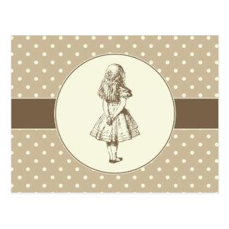 Alice en pois du pays des merveilles carte postale