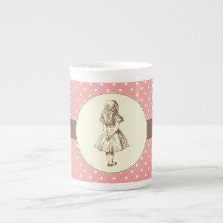 Alice en pois du pays des merveilles mug porcelaine anglaise