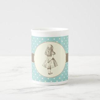 Alice en pois du pays des merveilles mug en porcelaine