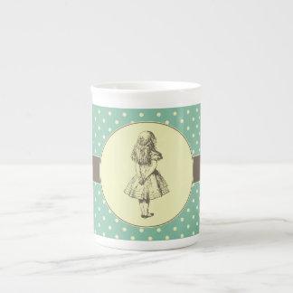 Alice en pois du pays des merveilles mugs en porcelaine