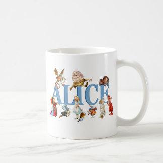 Alice et amis au pays des merveilles mug blanc