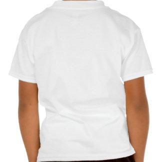 Alice et chevalier blanc ont encré la sépia t-shirt
