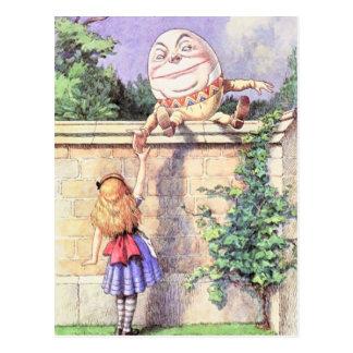 Alice et couleur de Humpty Carte Postale