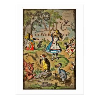 Alice et couverture affligées d'amis carte postale