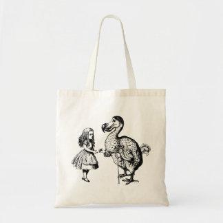 Alice et la dronte ont encré le noir sac de toile