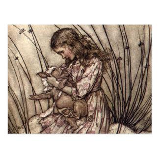 Alice et le bébé de porc carte postale