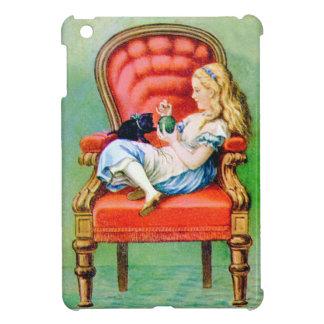 Alice et le Dinah le chat dans la grande chaise Coque iPad Mini