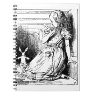 Alice et le lapin blanc carnet
