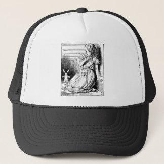 Alice et le lapin blanc casquette