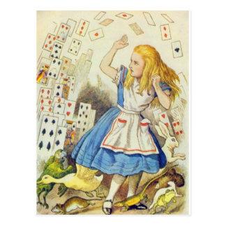 Alice et les cartes polychromes carte postale