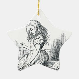 Alice et les écureuils ornement étoile en céramique