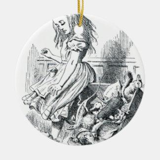 Alice et les écureuils ornement rond en céramique