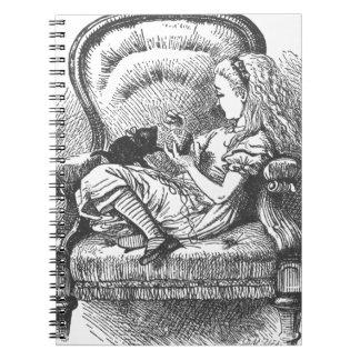 Alice et son chaton carnet