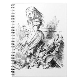 Alice et une boîte d'animaux carnet
