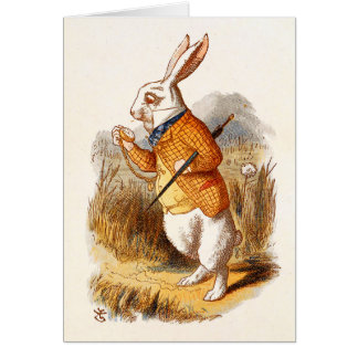Alice - lapin blanc - carte de note