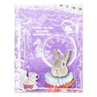 Alice mignonne en collage nuptiale de douche du carton d'invitation 10,79 cm x 13,97 cm