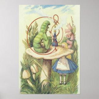 Alice rencontre Caterpillar Affiches
