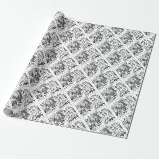 Alice, souris et oiseaux papier cadeau