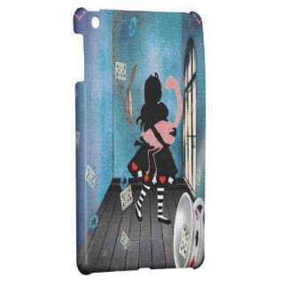 Alice surréaliste et cas d'iPad rose de flamant Coques iPad Mini