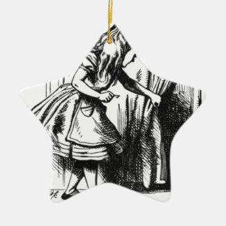Alice trouve une porte ornement étoile en céramique