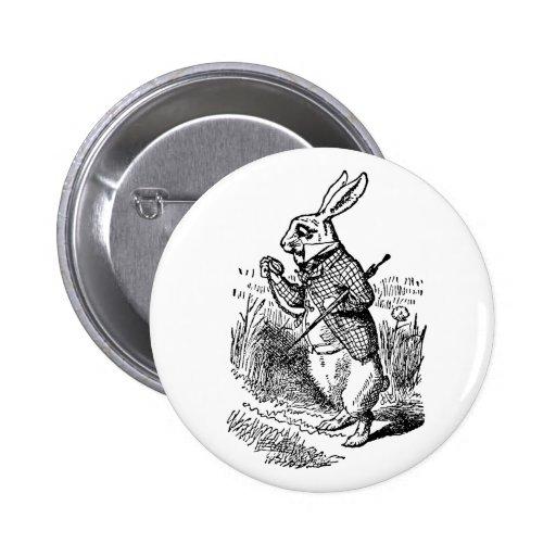 Alice vintage au pays des merveilles la montre bla badges avec agrafe