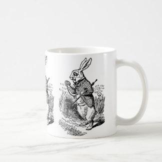 Alice vintage au pays des merveilles la montre mug blanc