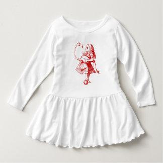 Alice vintage au pays des merveilles robe manches longues