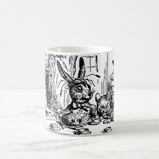 Alice vintage au pays des merveilles, scène de thé mug blanc