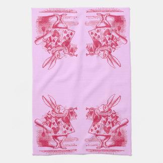 Alice vintage au pays des merveilles serviettes éponge