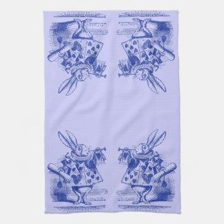 Alice vintage au pays des merveilles serviettes pour les mains